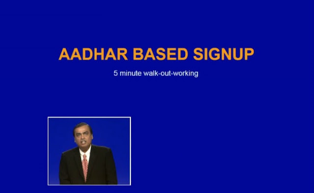 Reliance Jio Official Launch and Tariffs Plans 5 Aadhar Based Singup