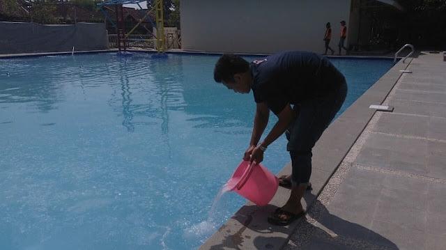 Treatment awal penjernihan proyek hotel danau dariza garut