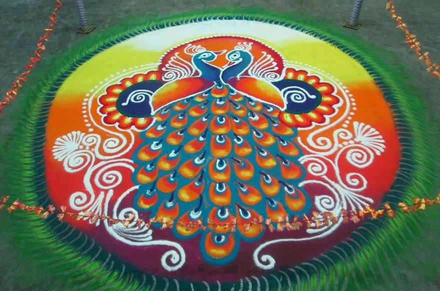 Rangoli Designs For Competition With Dots