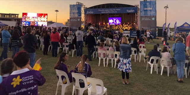 Stage Band and A Capella Choir at Relay for Life