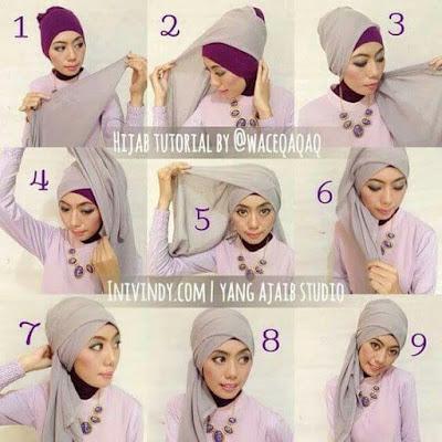 Tutorial Hijab Segitiga Terbaru 2017 untuk Kebaya