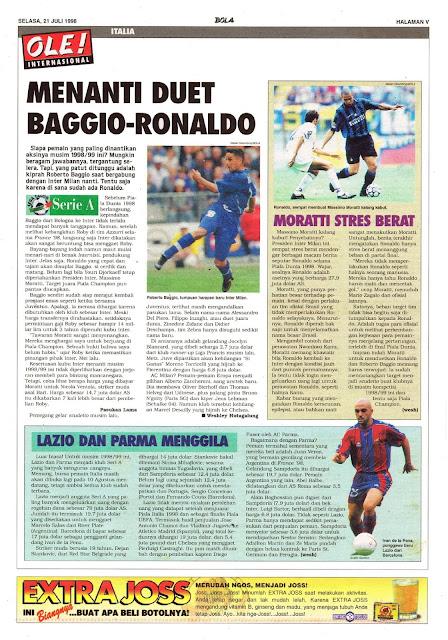 MENANTI DUET INTER MILAN BAGGIO-RONALDO