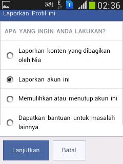 cara report fb orang agar dibanned