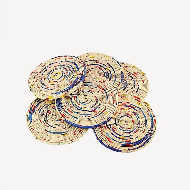 podkładki z papierowej wikliny