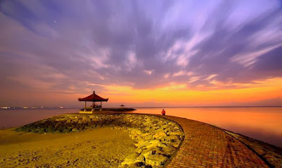 Location of Bali Sanur beach is located inwards the eastern purpose of the urban centre of Denpasar Bali Beach: Sanur Beach Bali