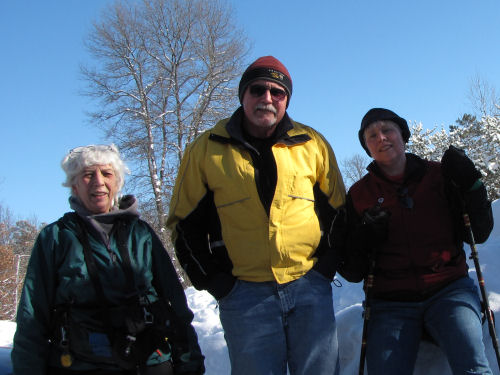 winter hikers