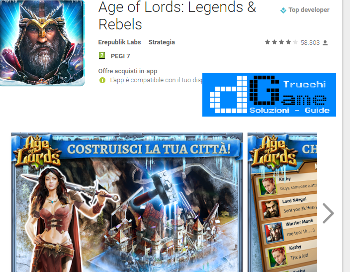 Trucchi  Age of Lords: Legends & Rebels Mod Apk Android v3.6.1