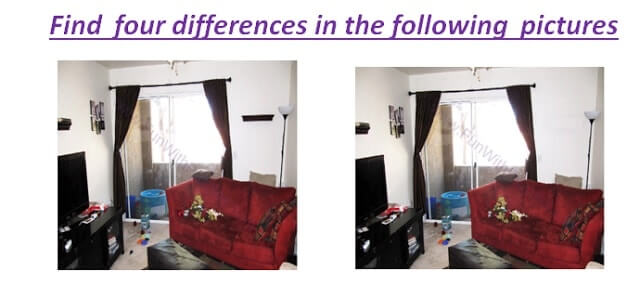 Photo puzzles to Spot the differences