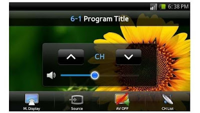 Samsung mobile TV app
