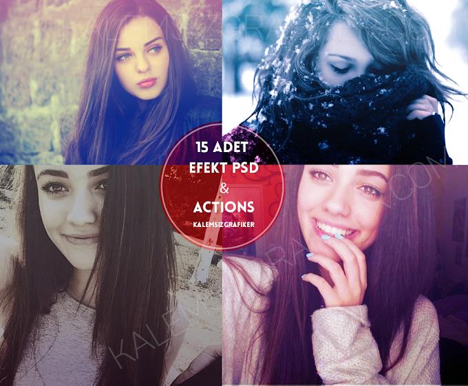 15 Adet Efekt PSD & Actions
