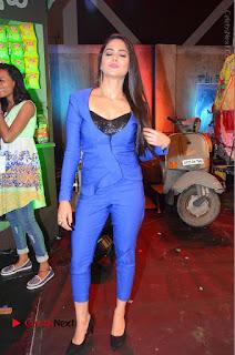 Actress Naina Ganguly Stills in Blue Dress at RGV Shiva to Vangaveeti Event  0038.JPG