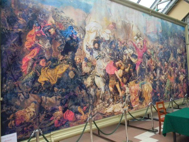 Bitwa pod Grunwaldem, haftowanie, Zielona Góra, palmiarnia