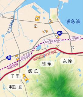 福岡市西区・周船寺周辺地図