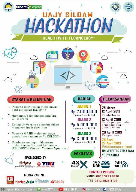 Lomba Problem Solved Nasional Uajy Hackathon 2019 Mahasiswa
