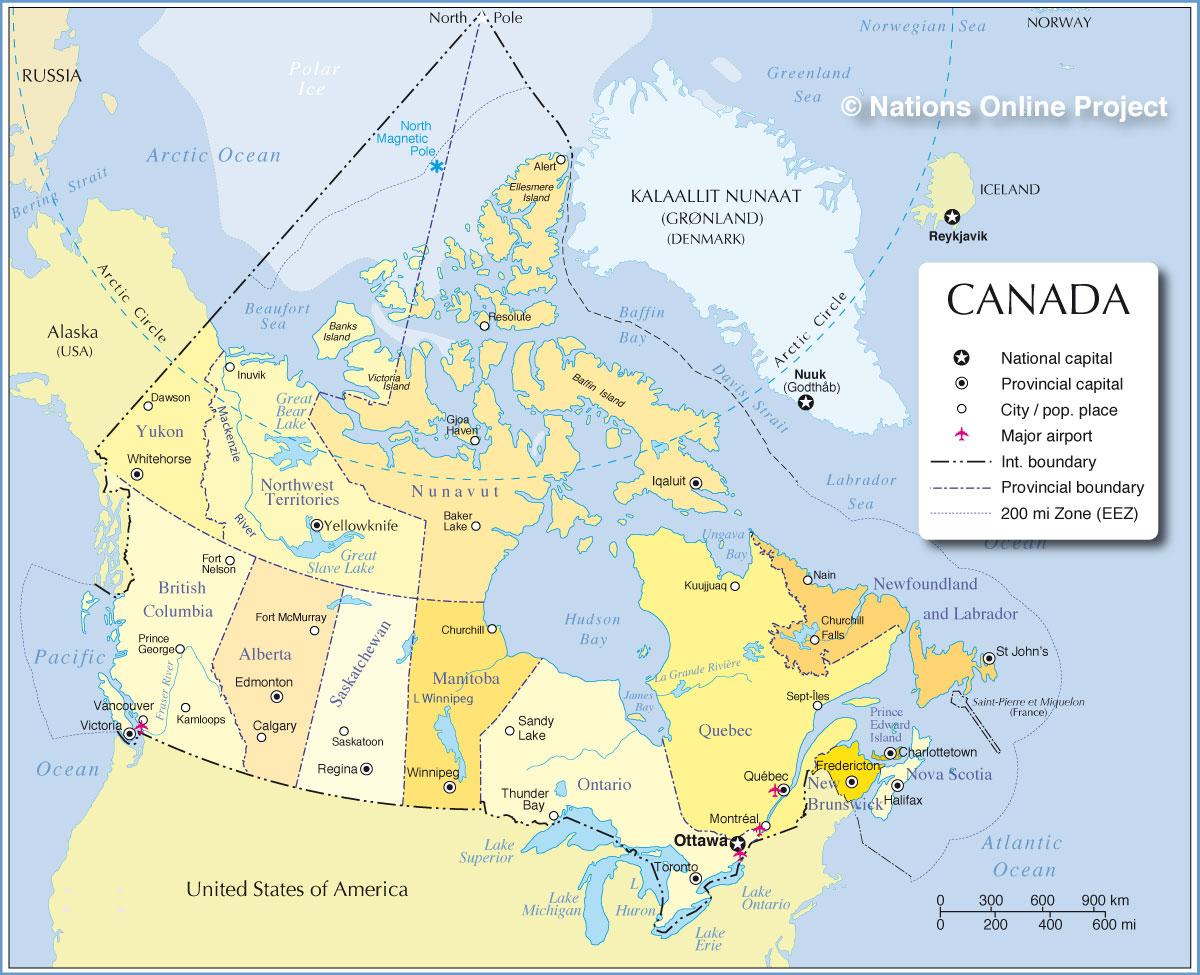 Canadá | Mapas Geográficos do Canadá