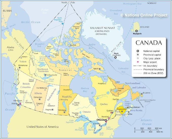 Canadá   Mapas Geográficos do Canadá