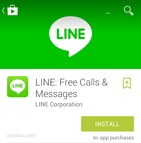 Tombol install - Cara Download & Install Aplikasi Line - Android