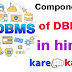 Components of DBMS Invironment in hindi