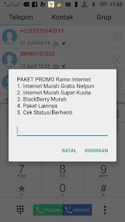 Cara membeli paket internet 8GB/50rb di kartu Simpati Telkomsel