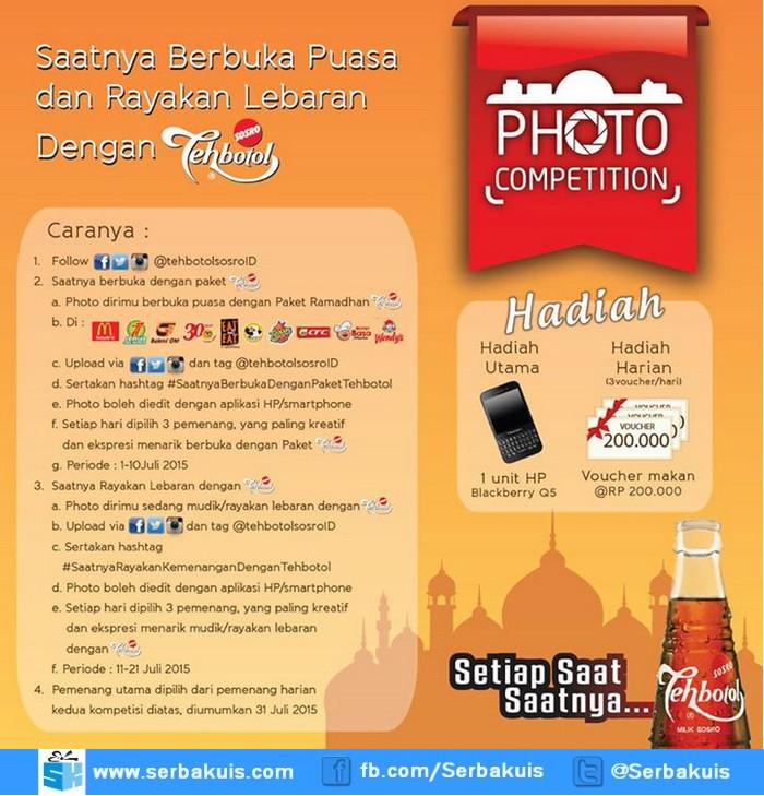 Kontes Foto Teh Botol Sosro Berhadiah Blackberry Q5