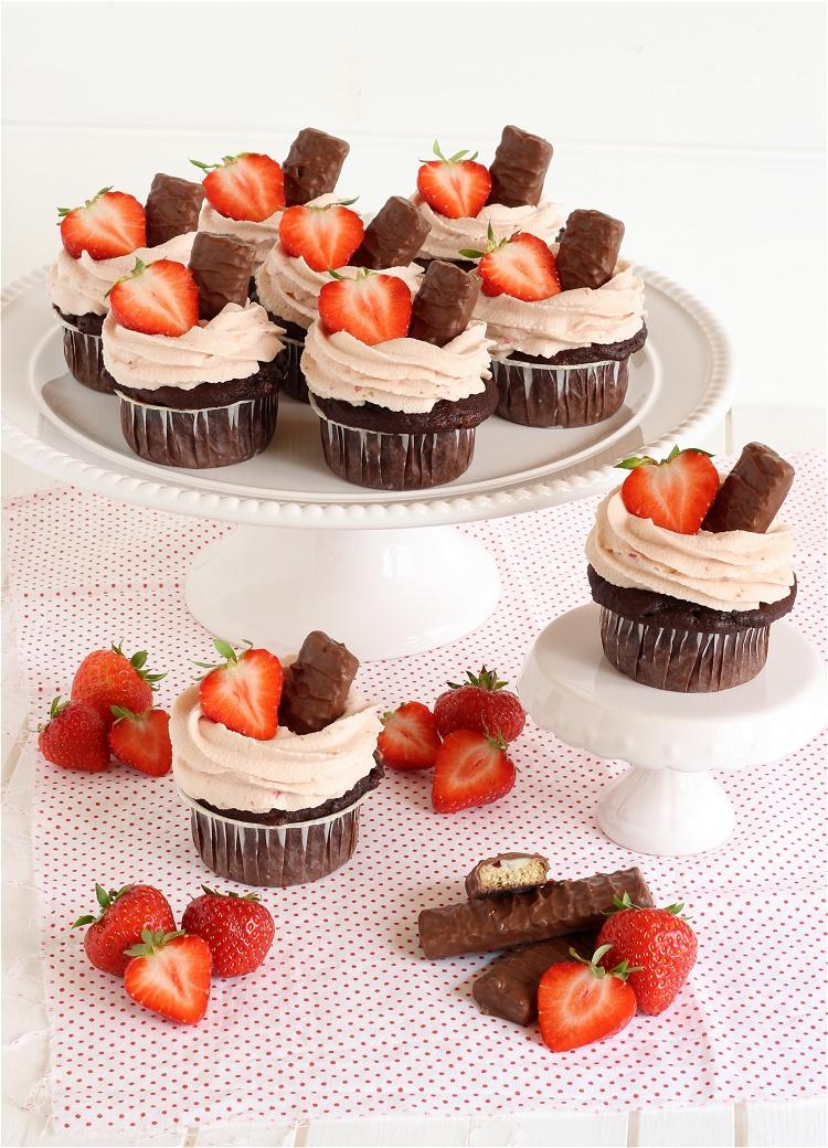 Balisto-Erdbeer-Cupcakes