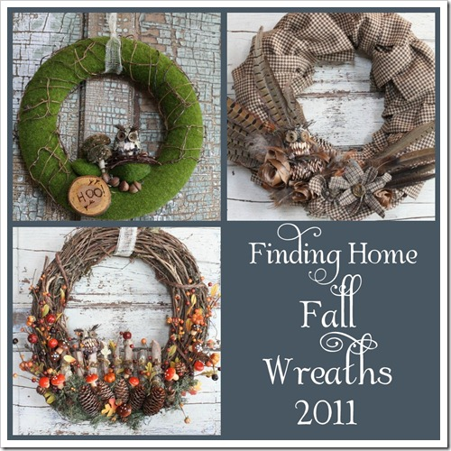Finding Home has many fall wreath tutorials that you can follow for beautiful fall and halloween themed wreaths