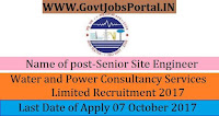 Water and Power Consultancy Services Limited Recruitment 2017- 45 Senior Site Engineer, Junior Site Engineer