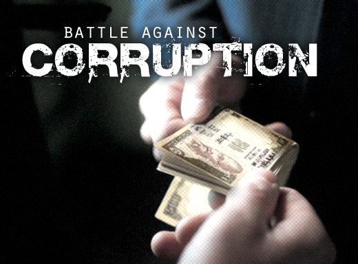 Why there is corruption in india