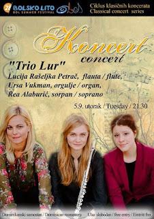 Zagrebački trio LUR, koncert - Bol slike otok Brač Online