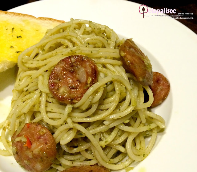 Hungarian Sausage and Pesto Pasta from Caffe La Tea
