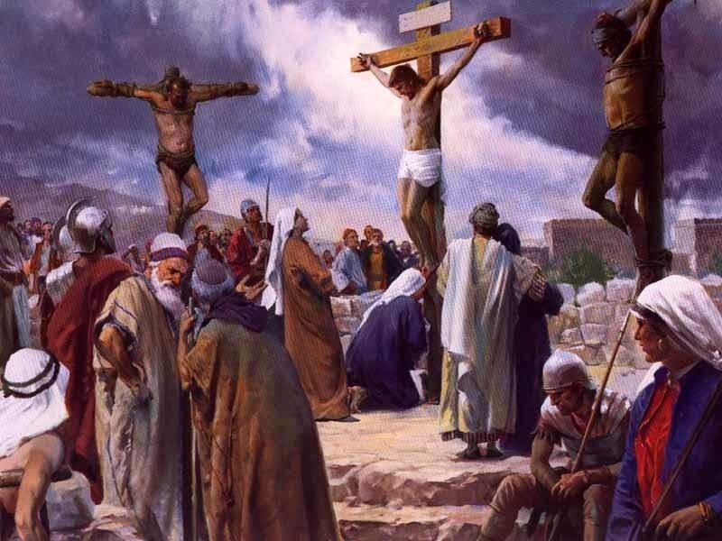 Crônica Dominical 20/04/2014 – Reflexões sobre a essência da Páscoa - Foto: Crucificação com 2 ladrões - Foto do site www.fotodejesus.com.br