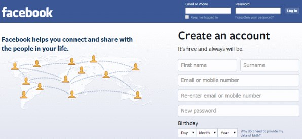 Facebook Login Sign In Page