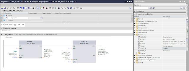 Escalado mediante las funciones NORM_X y SCALE_X tia portal v14