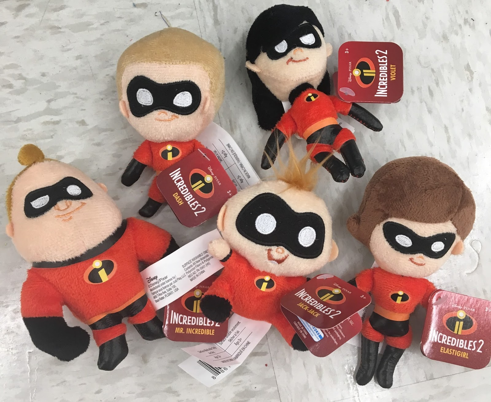pixar incredibles 2 plush plushie just play toys