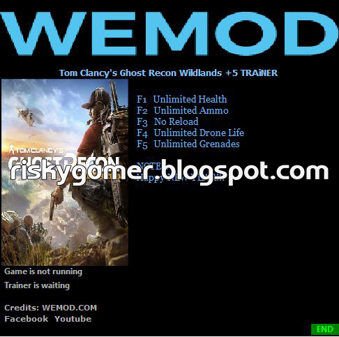 Tom Clancys Ghost Recon Wildlands 5 Trainer Riskygamerblogspot