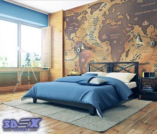 How to make world map decor and art for your interior design world map wall decor world map wall art world map wallpaper for bedroom gumiabroncs Choice Image