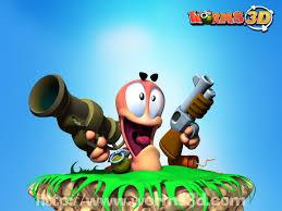 تحميل لعبه حرب الديدان Worms 3D على ميديا فاير