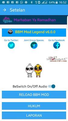 BBM MOD THE LEGEND v6.0.0 Based v2.13.1.14 Apk