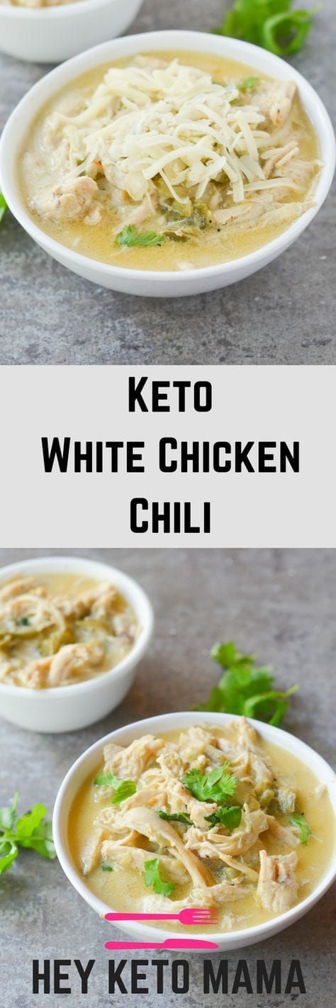 ★★★★☆ 7561 ratings | KETO WHITE CHICKEN CHILI #HEALTHYFOOD #EASYRECIPES #DINNER #LAUCH #DELICIOUS #EASY #HOLIDAYS #RECIPE #KETO #WHITE #CHICKEN #CHILI