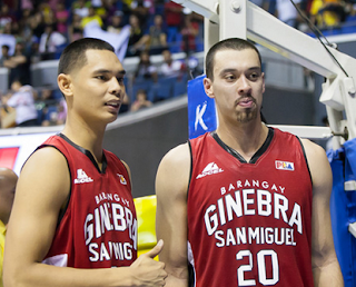 Japeth Aguilar and Greg Slaughter