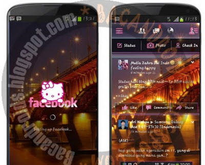 download App Facebook Mod Tema Helloktty Pink Transparan Apk For Android
