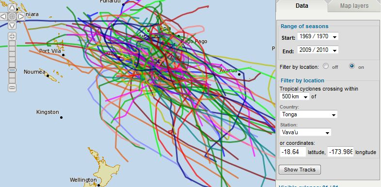 Sailing Adventures of David & Kathy: Pacific Tropical Cyclone Track