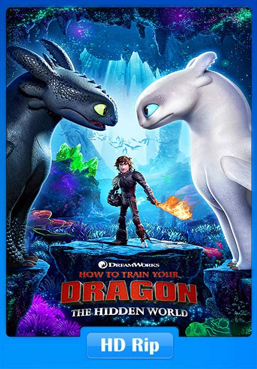 How to Train Your Dragon The Hidden World 2019 720p BDRip Hindi ESubs   480p 300MB   100MB HEVC Poster