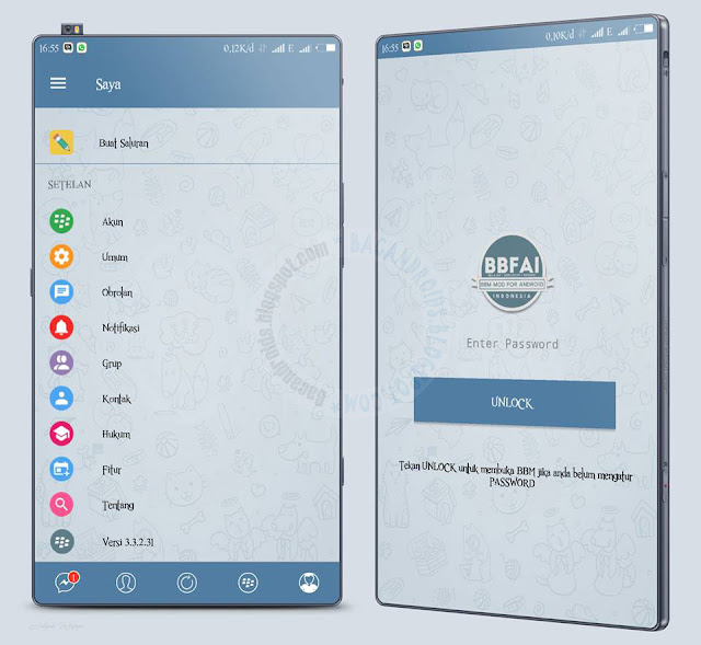 BBM Mod telegram style update 3.3.2.31 Apk