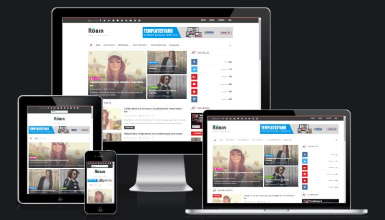Robin Blog Blogger Template [ Premium ]