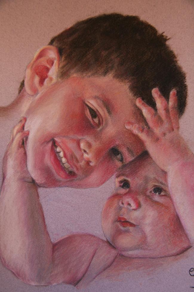 Retrato de bebé y niño