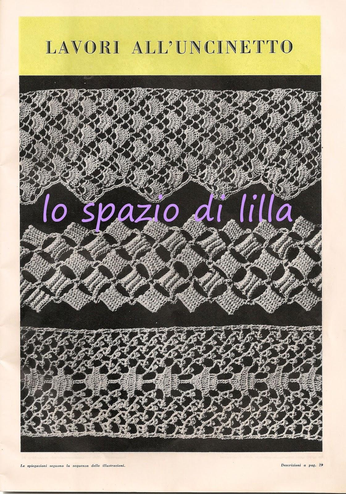 Lo spazio di lilla bordure all 39 uncinetto vintage schemi for Schemi bordi uncinetto