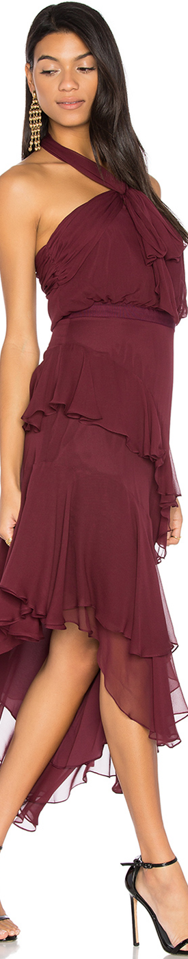CINQ A SEPT VALLE DRESS IN CURRANT