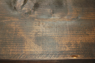 stained wood boards for pipe shelf