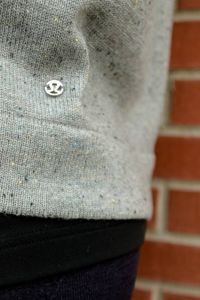 lululemon gray yogi crew sweater